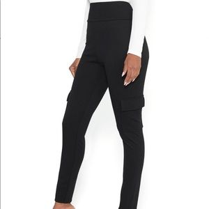 Bebe Black Cargo High Waist Leggings Size M